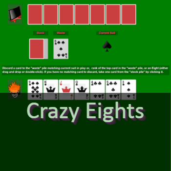 Play Crazy Eights Card Game