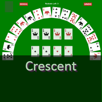Play Crescent Solitaire Card Game