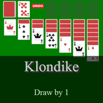 Play Klondike Solitaire (draw by 1) Card Game