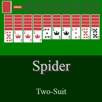Play Spider Solitaire (Two-Suit) Card Game