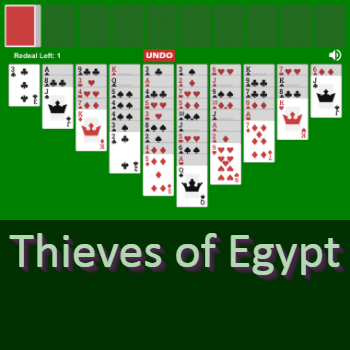Play Thieves of Egypt Solitaire Card Game