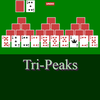 Play Tri-Peaks Solitaire Card Game